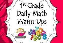 1st Grade Math Warm Ups/Morning Work / Daily Math Warm Ups/Morning Work - 1st Grade. Provide your first grade students/child with this packet of daily math warm ups specifically designed to meet 1st Grade common core math!  Repetition rules when it comes to mastery.  Note: There are two days of daily math warm ups per sheet. A total of 88 days.