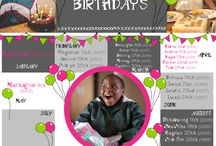 Birthdays / We love birthdays - you love birthdays - let's all celebrate our birthdays
