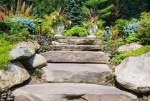 Stone Steps & Pathways / Stone Steps & Pathways in Landscape Design in NJ and NY gardens, backyards and various properties