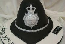 Police hat cake