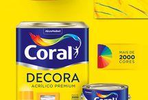 """Coral Decora - Cases / Para a Coral """"Cada um tem seu estilo"""" e a linha decora reflete exatamente isso. Redesenhamos o novo logotipo, para criar uma marca mais leve e com movimento, criamos novas embalagens para colocar a marca alinhada com seu consumidor."""