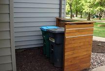 Wheelie bin enclosures