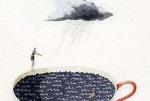 Tempestad (1des-8des) / Textos y dibujos sobre tempestad.