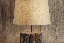 Wood base lamps