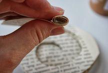 papieren rozen ring