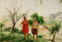 Adam de Boer / Adam de Boer - young Colombian artist. It works in the genre of social realism. Inspirational book by Vladimir Nabokov. Official site http://www.adamdeboer.com/