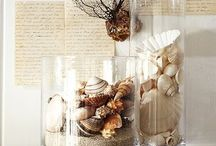 decorate vases with shells