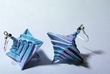origami ørepynt