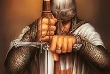 Korsfarer. / Korsfarere var frivillige og kristne soldater som «tok opp korset», det vil si at de tok hellig ed på å kjempe i korstogene i Det hellige land. Denne prosessen begynte i 1095. Wikipedia
