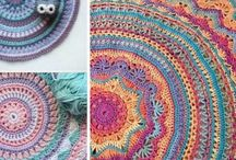 Crochet decoration mandalas