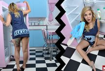 Summer 14 / The Milk summer line 2014. Featuring cut and sew printed unisex garments.
