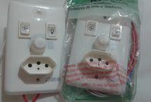 Controles de ventilador / Dimmers profissionais; Filtros de linha; Minuterias; Dimmer para liquidificador; Protetores de rede e telefones.