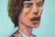 Portraits / Diego Manuel | Artist Painter Sculptor. Abstract Art Surrealism  Pop  Realism  / by Diego Manuel