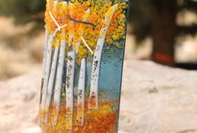 Fused glass votives