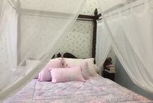 Bedroom soft colour mosquito net jepara indonesia