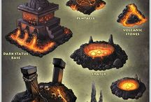 Warhammer Fire Realm / Ideeën voor een game tabletop