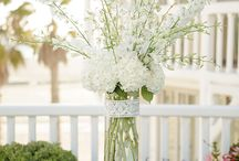 Flower themes - green white