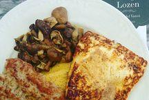 Piatto Lozen,  polenta, salsiccia,  finferli e tosèla #caseificiodiprimiero