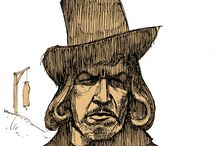 Vincent Price as the Witchfinder General, Matthew Hopkins / Here's a collection of fantastic drawings and pictures based on Vincent Price's classic turn as Matthew Hopkins, Witchfinder General in Michael Reeves' cult 1968 British period horror.