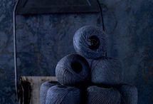 Dark blue hues