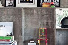 Eclectic: concrete jungle / Interior inspo