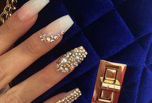 Nails - Gold & ... nails