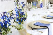 Blue and white weddings