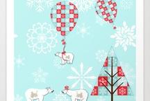 Red, White and Aqua Christmas
