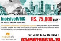 INCISIVE WSM (WholeSale Management System) / IncisiveWMS (WholeSale Management System) gives you control of your wholesale business through real-time dashboards to improve ordering and invoicing, better manage inventory, and efficiently deliver customer service.