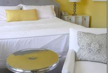 Interior Design | Bedrooms / Ideas for The Hubby and I's romantic bedroom 2013 - Current room Yellow/Grey