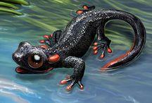 Animals / Animals, mammals, amphibians, birds, fish, drawing, painting, anthropomorphic, biology, creature, cute, environment, fauna, fish, kingdom, lizard, motion, nature, pencil, reptile, sea, structure, symbol, zoo