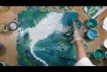 acryl fluid painting