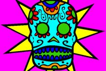Dia De Los Muertos Coloring and More / Day of the Dead Coloring and More
