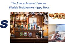 """The Almost Internet Famous Weekly TechSpective Happy Hour / Weekly recaps of the week in tech, coupled with a """"happy hour"""" kickoff for the weekend."""