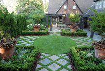 English cottage backyard