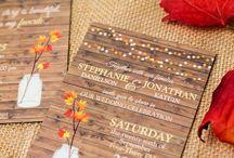 Fall, Autumn, and Halloween Wedding Invitations
