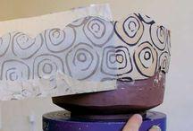 Pottery monoprints