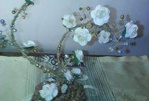 Δεντράκια με σύρμα & χάντρες / Οι δημιουργίες μου