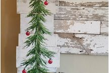 Christmas (hiasan natal dari kayu)