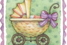bebek temalı dekupajlar