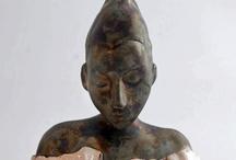 Yaprak Çika's Ceramic Sculptures / Yaprak Çika's clay sculptures.
