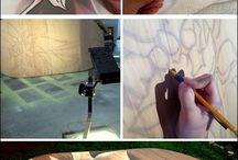 wood stain art