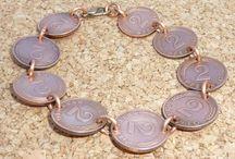 Armbänder/ Bracelet aus Münzen/ Coins