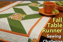 Fall Table Runner Challenge / This sewing and quilting Fall Table Runner Challenge kicked off in 2015 and may be an annual event. Here are a few of the winners from Nancy Zieman's inaugural table runner challenge. (2015)