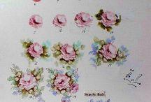 цветы букеты рисунок поэтапно