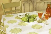 Green Table Linens / French Country Style Olive Green Table Linens / by Attiser