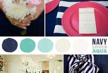 wedding navy/aqua ideas