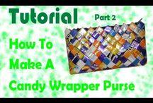 Tutorials - Candy Wrapper Bag