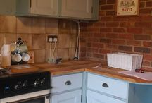 Stipple and Dab Kitchens / look at how we transformed these kitchens with our amazing autentico paint range