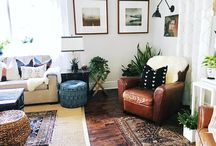 Living Room Designs / modern eclectic bright and light home design boho decor california casual cool home inspo
